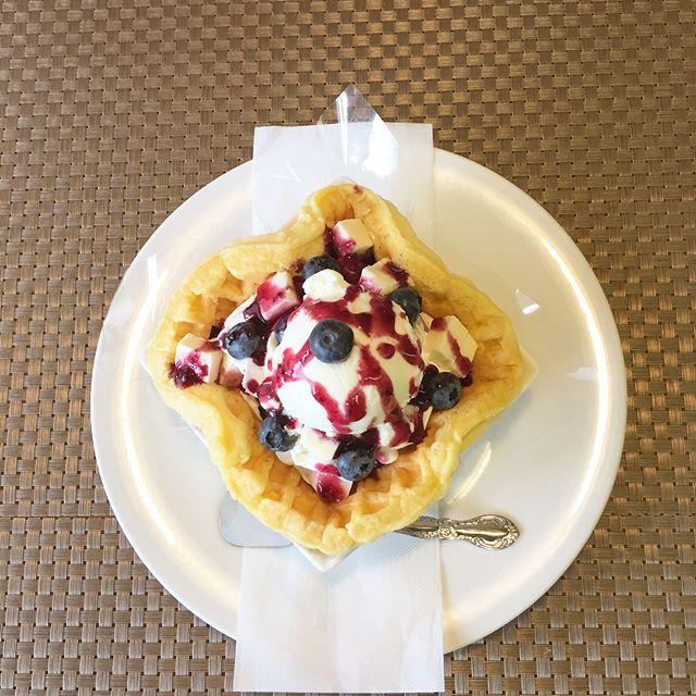 ..おはようございます❣️.本日、8月3日木曜日も通常営業しています♪.まだまだ、美味しい地元宇都宮産のブルーベリーが有りますょ〜.美味しいブルーベリーとチーズケーキのワッフルパフェ.今日も美味しいワッフル&ナポリタンを作ってお待ちしています❣️..#オリオンスイート #ワッフル #ベルギーワッフル #パフェ #ワッフルボンボン #ブルーベリー #チーズケーキ #栃木 #宇都宮 #カフェ #レストラン #ランチ #ディナー #アフタヌーンティー #女子会 #デリスタグラマー #インスタ映え #ナポリタン #抹茶 #わらび餅 #orionsweet #waffles #cafe #lanche #pasta #delistagrammer #instagram #tea