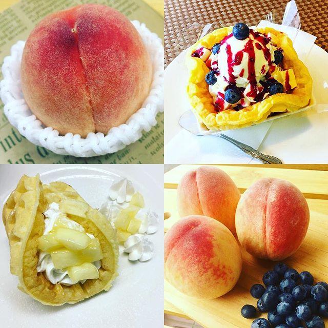 .おはようございます☂️.本日、7月6日金曜日も通常営業しています❣️.桃と地元産のブルーベリーが真っ盛りです.旬の時期に旬のフルーツを食べる.おすすめです.今日も美味しいワッフル&ナポリタンを作ってお待ちしています❣️..#オリオンスイート #ワッフル #ベルギーワッフル #ナポリタン #パスタ #スパゲティ #パフェ #ピーチ #桃 #もも #ブルーベリー #栃木 #宇都宮 #カフェ #ランチ #宇都宮カフェ #栃木カフェ #宇都宮ランチ #カフェ巡り #カフェ好き #フルーツ #デリスタグラマー #女子会 #食べ放題 #インスタフード #インスタグラマー #インスタ映え #orionsweet #waffles #cafe